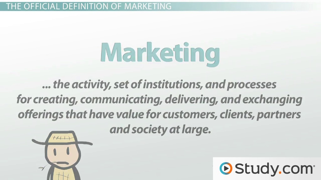 Introduction to marketing definition and applications video introduction to marketing definition and applications video lesson transcript study fandeluxe
