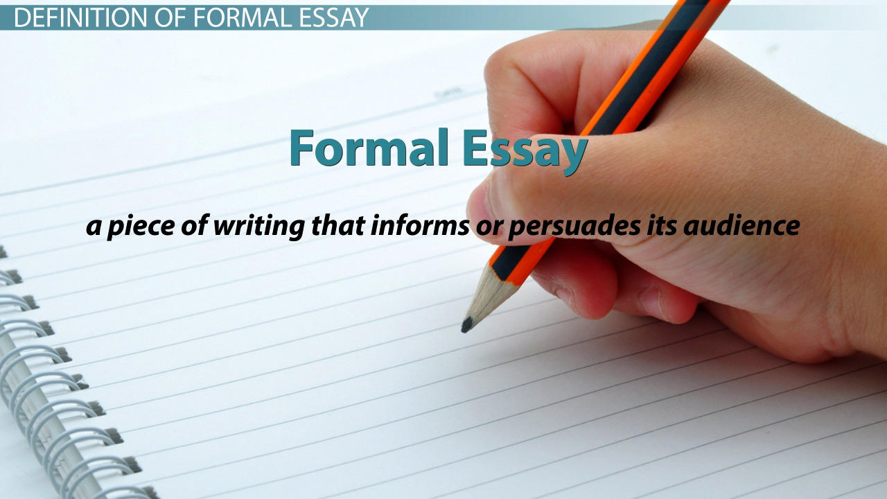 Formal Essay: Definition & Examples - Video & Lesson Transcript ...