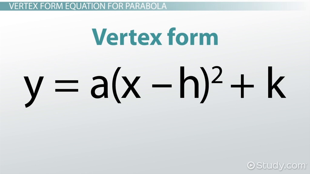 Writing Standard Form Equations For Parabolas Definition