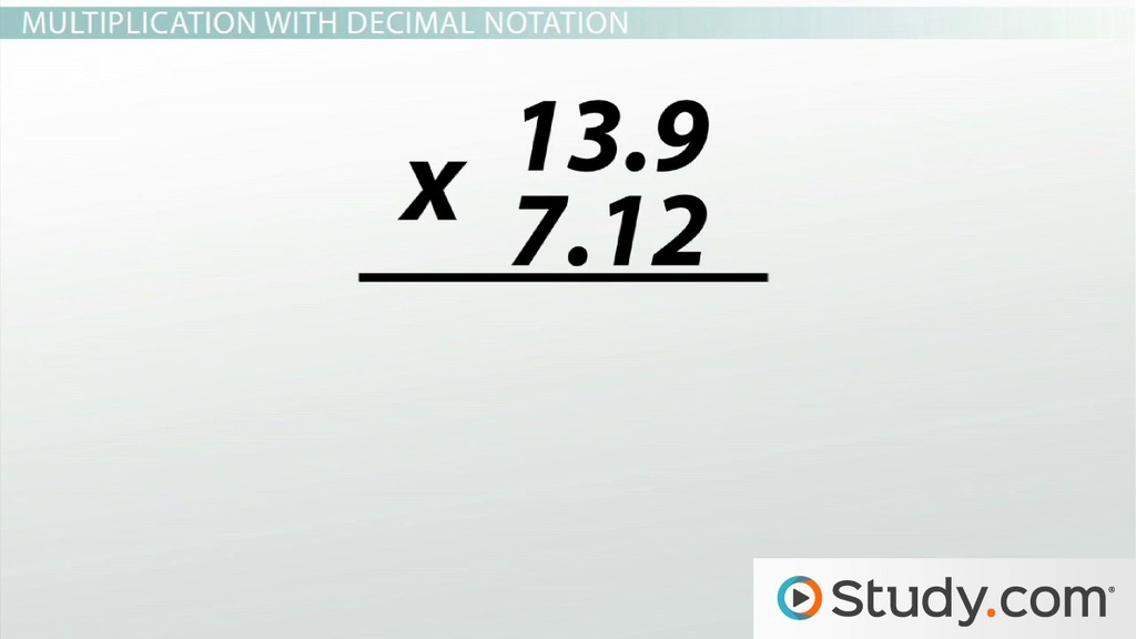 Addition Subtraction Multiplication and Division with Decimal – Lining Up Decimals Worksheet