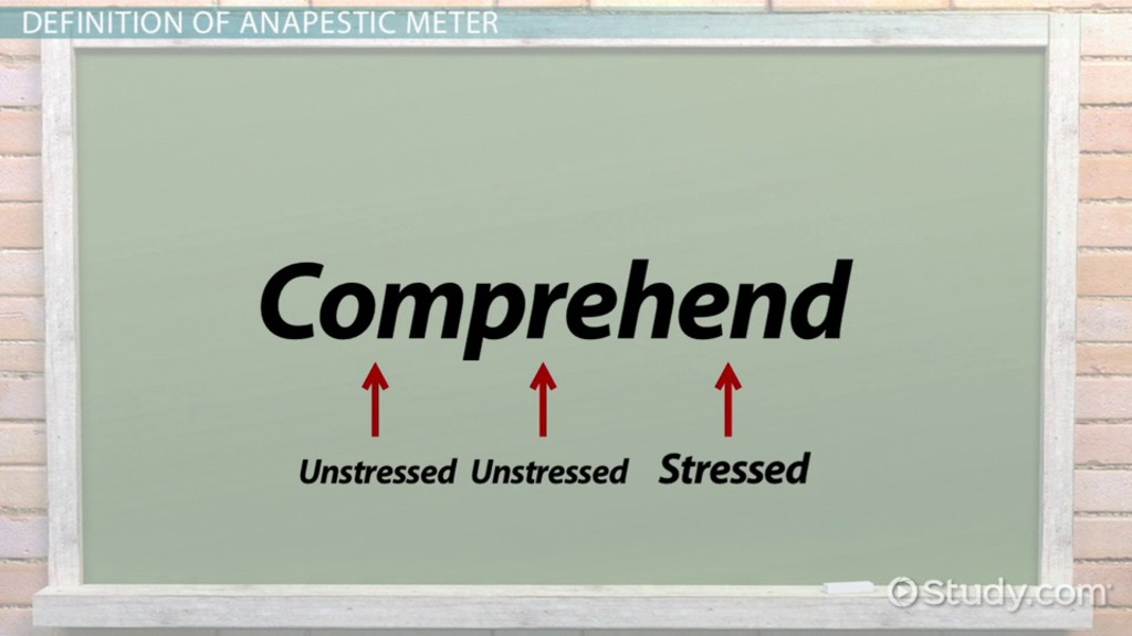 Anapestic Meter Definition And Poetry Examples Video Lesson