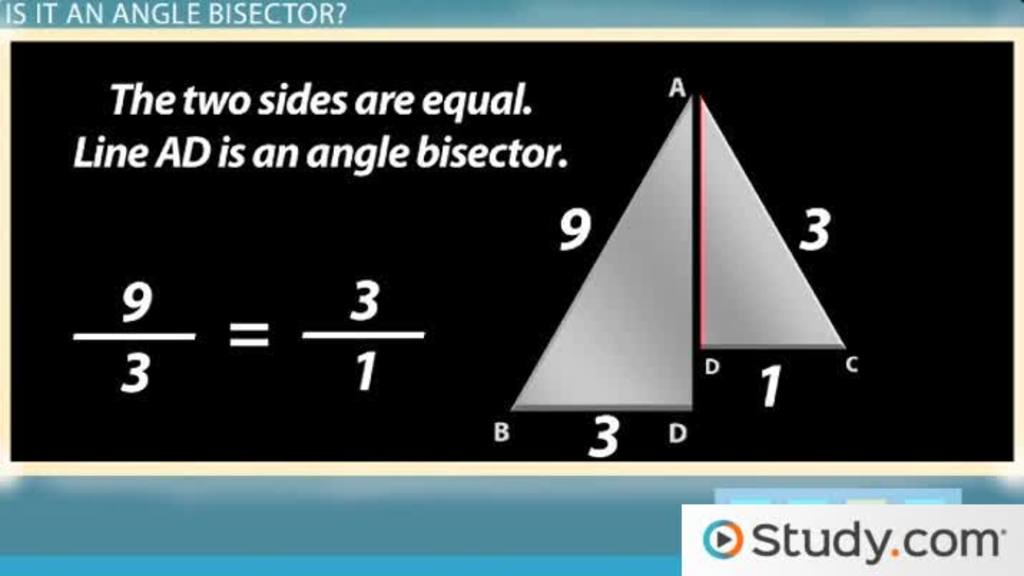 angle bisector theorem  definition and example