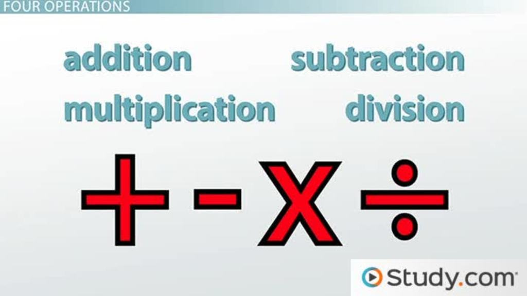 Arithmetic with Whole Numbers - Video & Lesson Transcript   Study.com