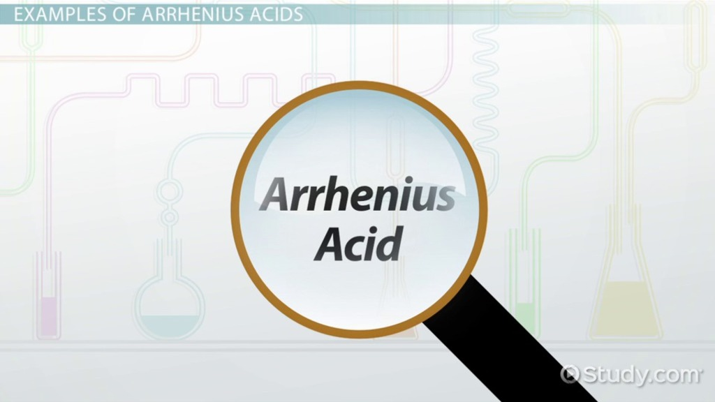 arrhenius acid  definition  u0026 examples