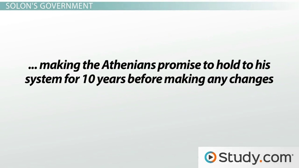 Athenian Democracy Solon And Cleisthenes Video Lesson