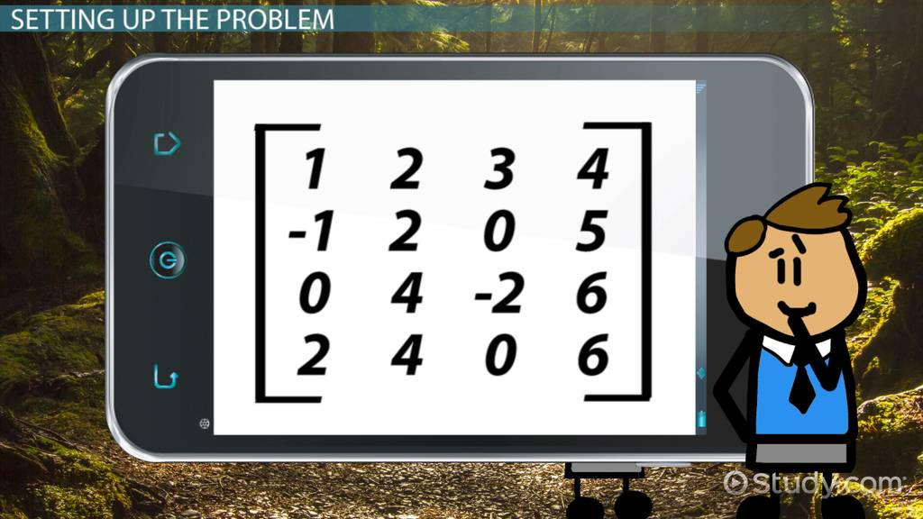 How to Find the Determinant of a 4x4 Matrix - Video & Lesson