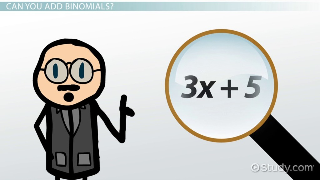 Binomial Definition Examples Video Lesson Transcript Study