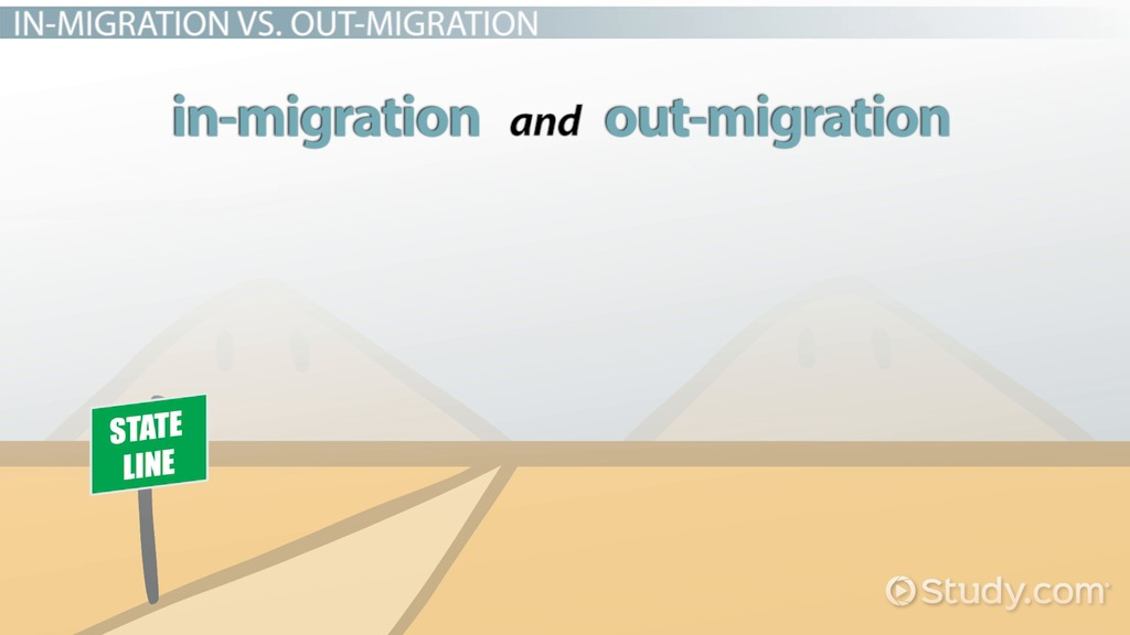 In-Migration and Out-Migration: Definition & Overview - Video ...