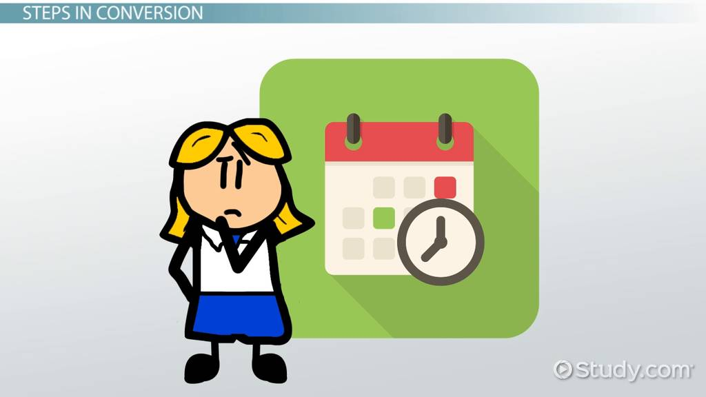 Converting 1 Year To Seconds Video Lesson Transcript
