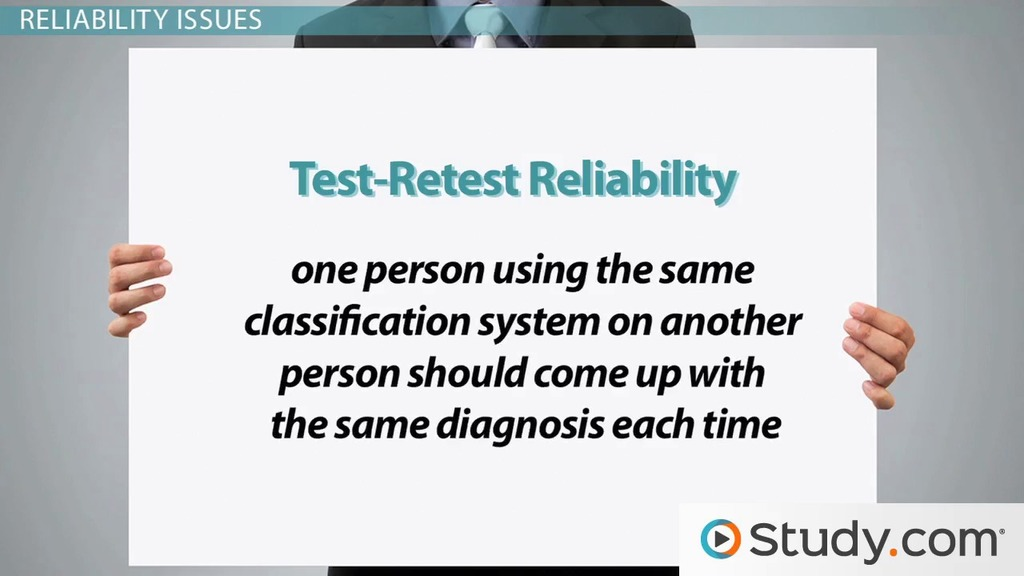 Issues In Psychological Classifications Reliability Validity Labeling Video Lesson Transcript Study: Issues In Psychological Testing Worksheet At Alzheimers-prions.com