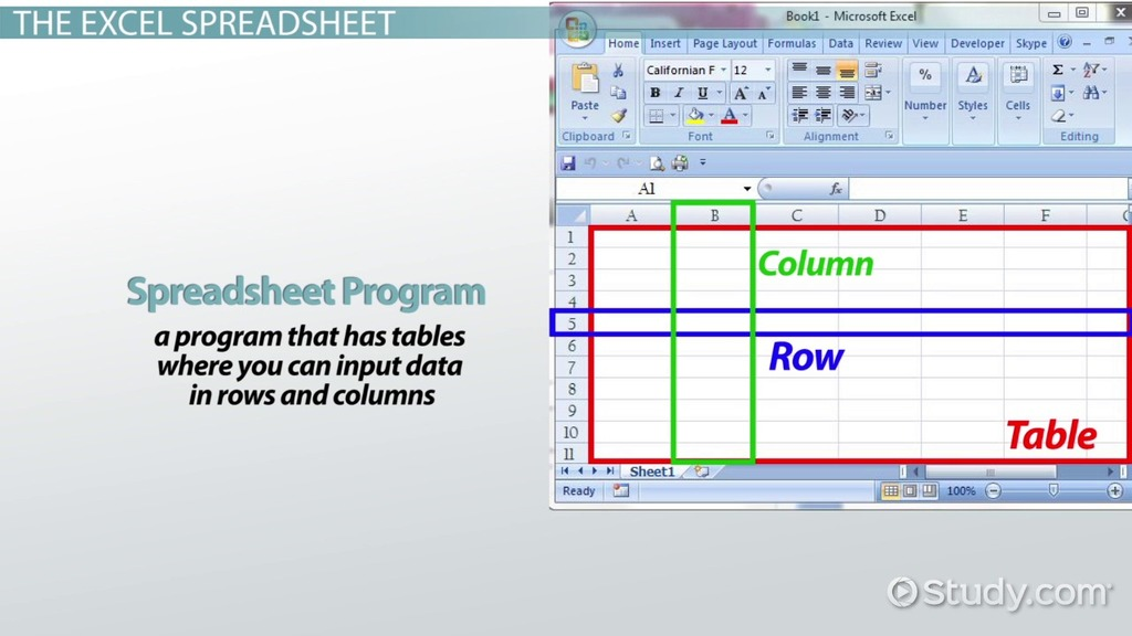 Common Uses For Excel Spreadsheets Video Lesson Transcript