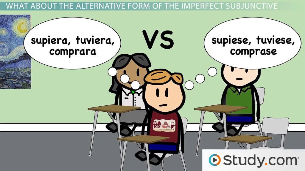 Conjugations And Alternate Conjugations Of The Imperfect Subjunctive