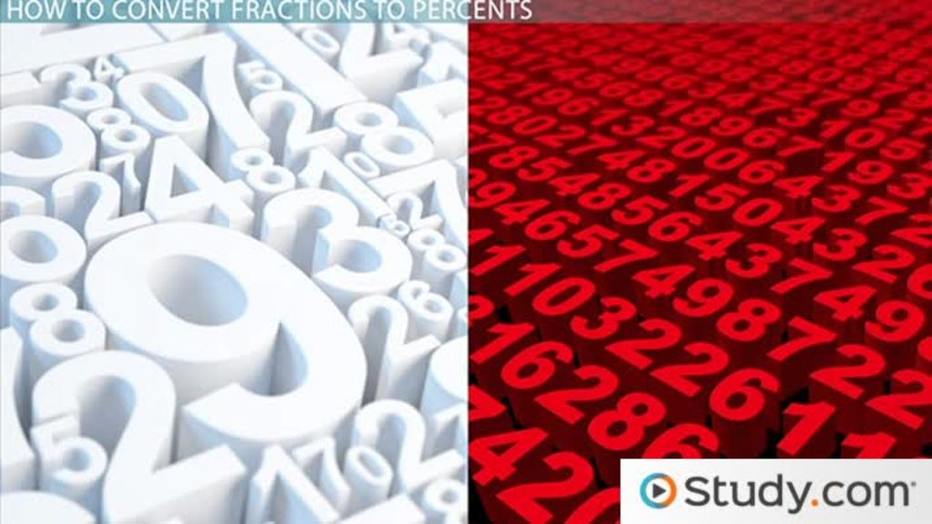 Converting Fractions To Percents Video Lesson Transcript Study