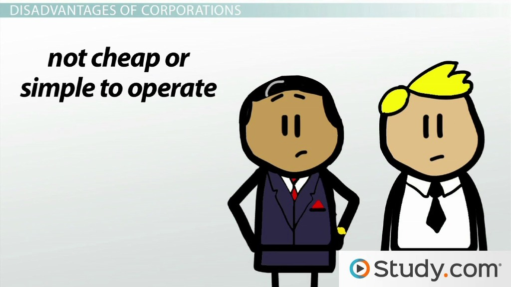 Corporations Types Advantages Disadvantages Examples Video