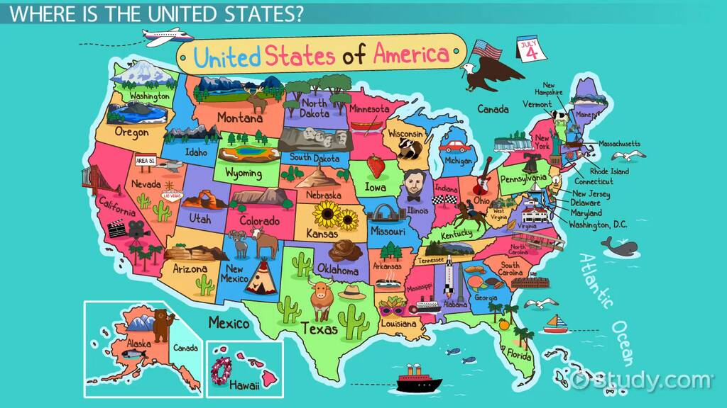 Picture of: United States Geography Lesson For Kids Video Lesson Transcript Study Com