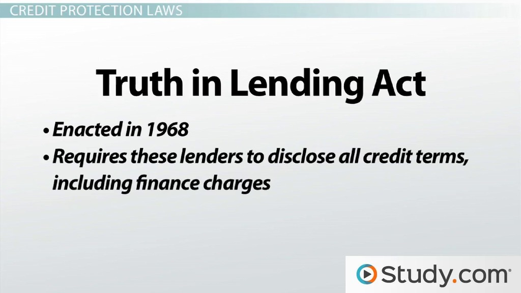 What Is Credit Protection Laws Services Video Lesson