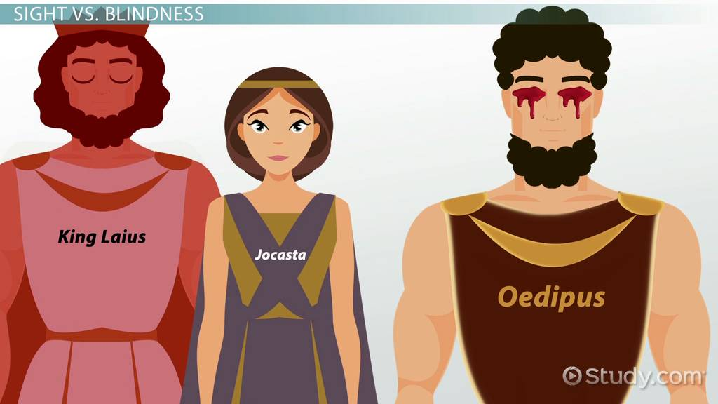 jocasta s suicide and the blinding of Oedipus takes two brooches from jocasta's dress and uses them to pierce his eyes and blind himself one also questions jocasta's faith in the gods in the.