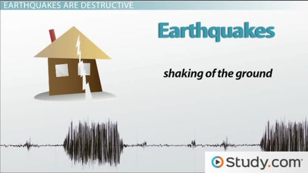 Destruction Caused By Earthquakes Video Lesson Transcript