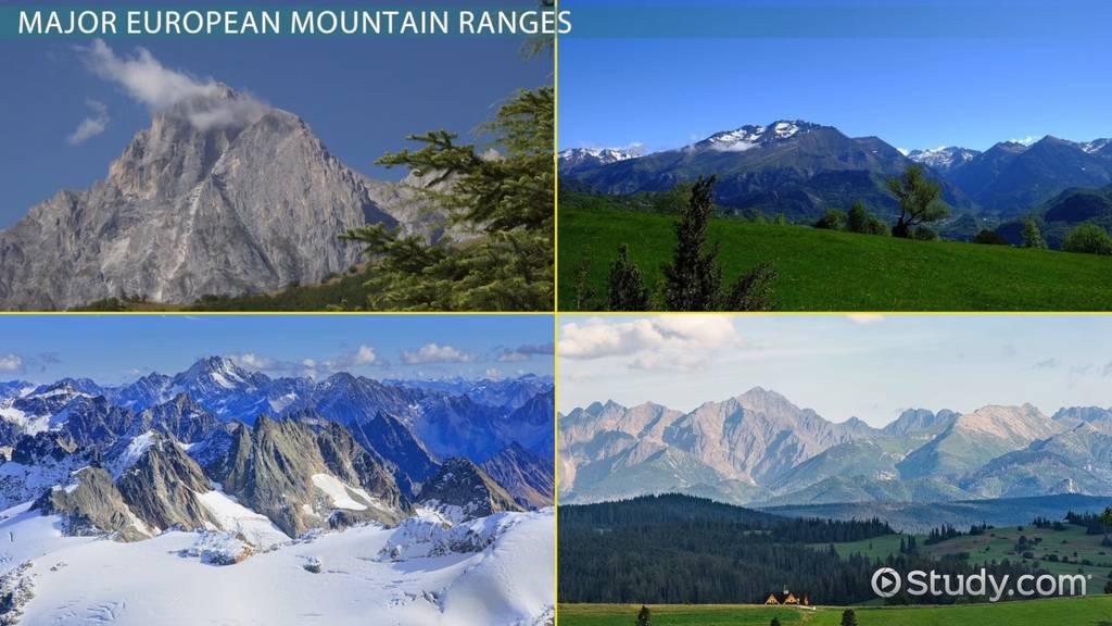 Major european mountain ranges video lesson transcript study publicscrutiny Image collections