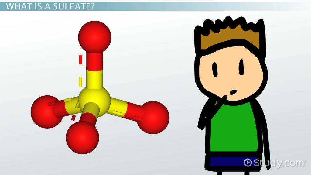 What Is Sulfate Definition Structure Formula Video Lesson