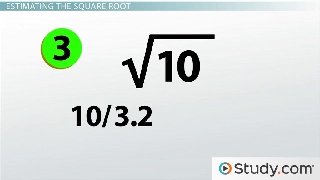 estimating square roots video lesson transcript. Black Bedroom Furniture Sets. Home Design Ideas