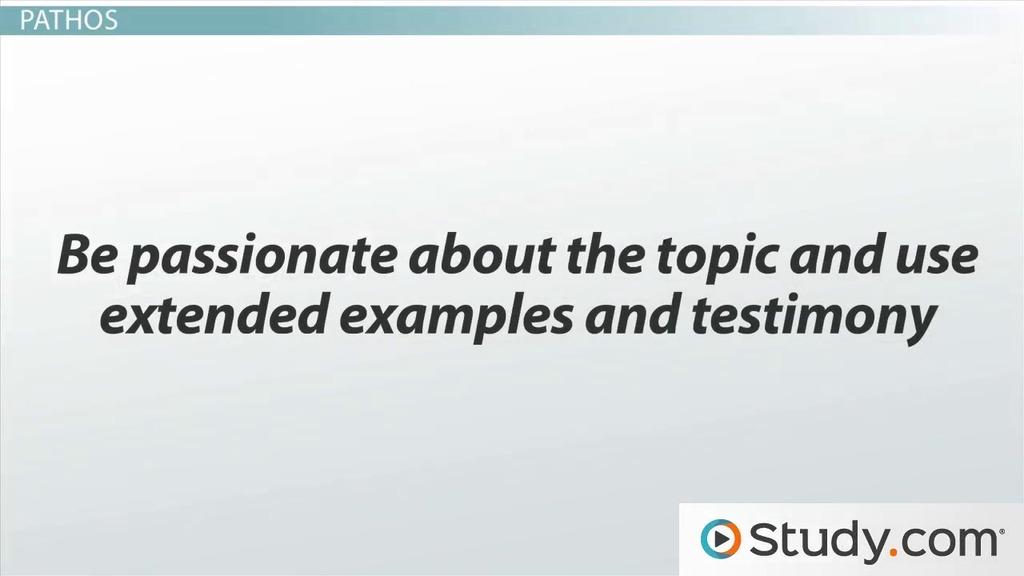 Ethos Pathos And Logos Importance In Public Speaking Video Lesson Transcript Study Com