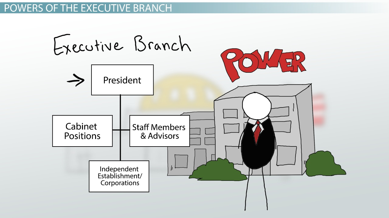 executive branch of government definition responsibilities power