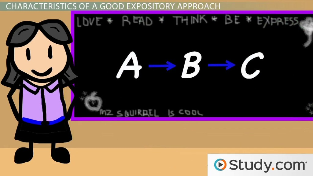 Expository Approaches To Instruction Video Lesson Transcript