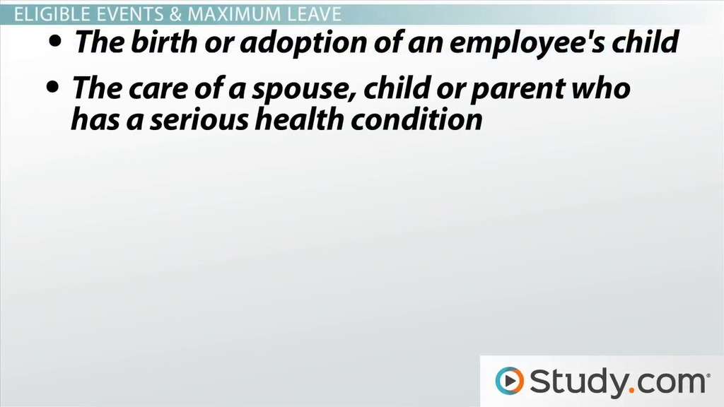 Family Medical Leave Act (FMLA): Overview and Importance - Video ...