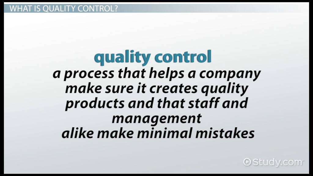 Four Types Of Quality Control Video Amp Lesson Transcript