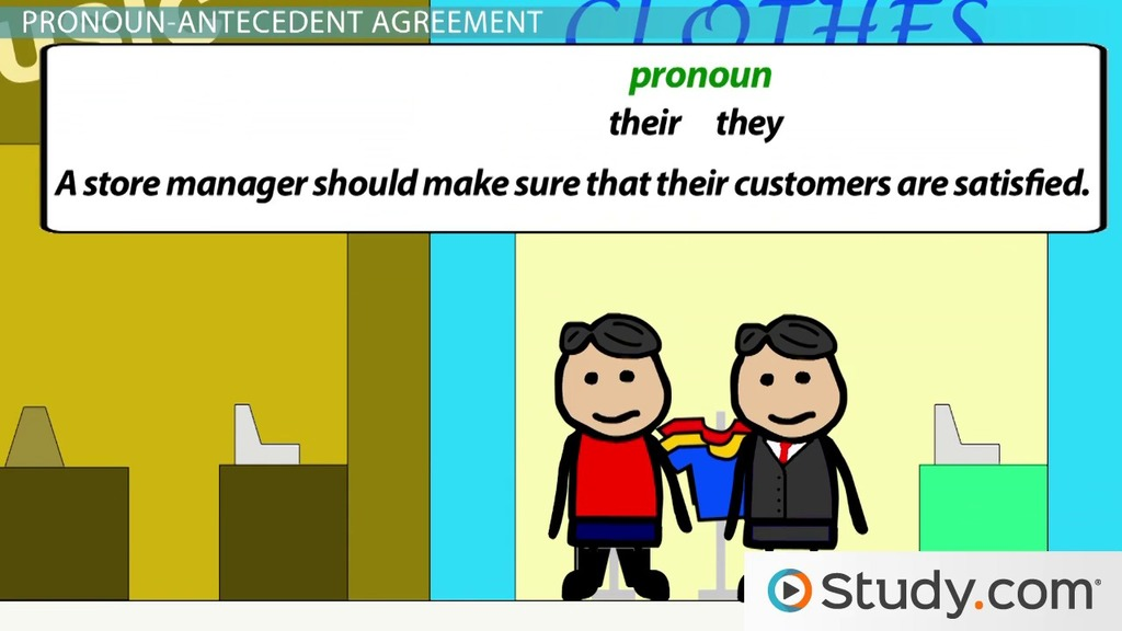 Identifying Errors Of Singular And Plural Pronouns Video Lesson