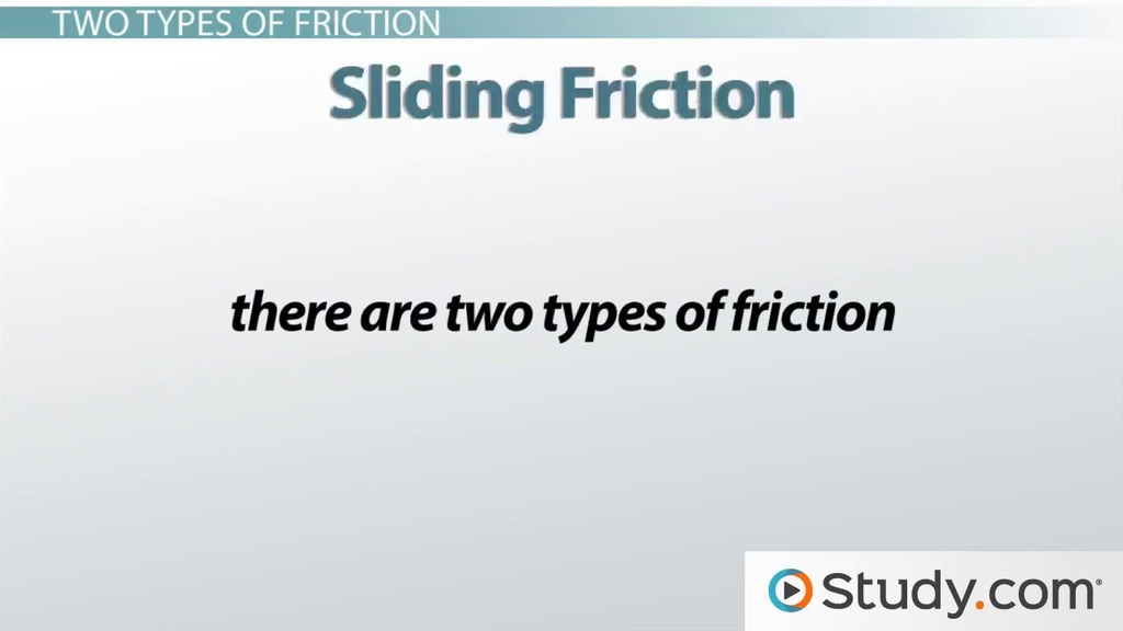Friction Definition And Types Video Amp Lesson Transcript
