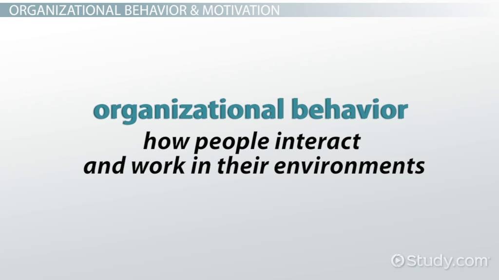 organizational behavior case study motivation Opening case study: whole foods, whole people part i: the strategic lens chapter 1: a strategic approach to organizational behavior chapter 2: organizational diversity.