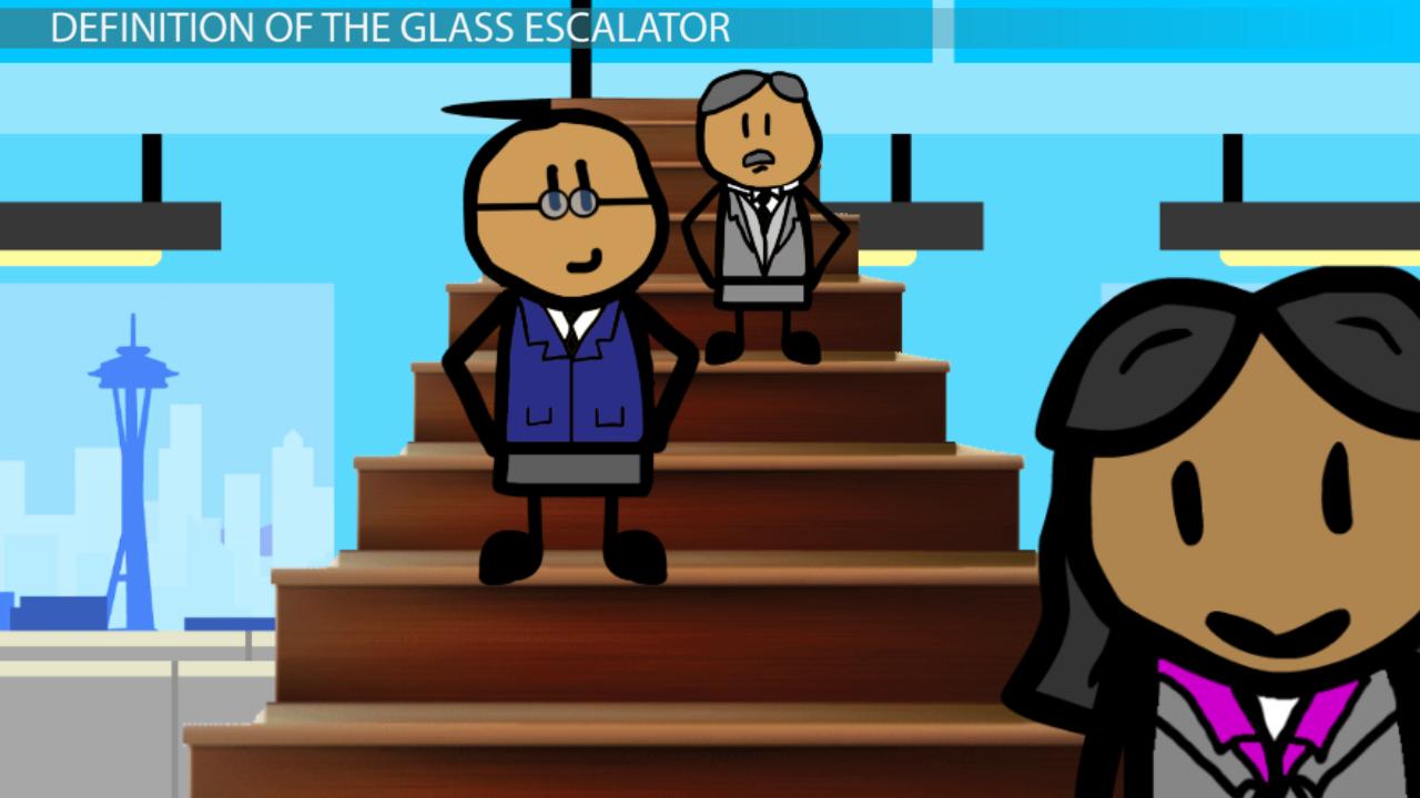 glass escalator in sociology  definition  u0026 effects