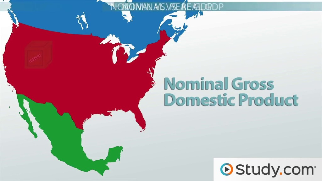 gross domestic product  nominal vs  real gdp