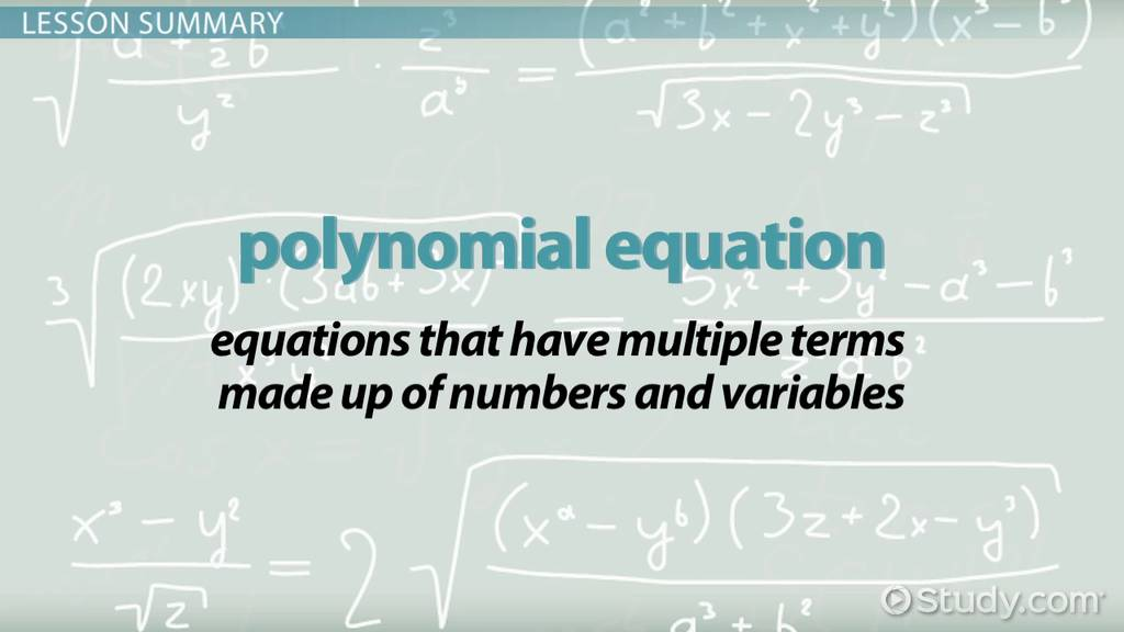 Forming Polynomial Equations with Roots