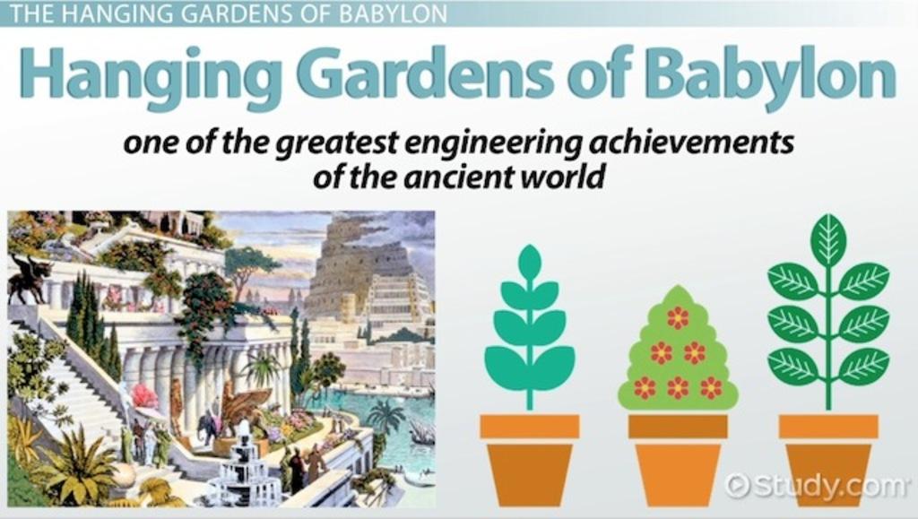 Hanging Gardens Of Babylon History Facts Location Lesson Transcript Study Com