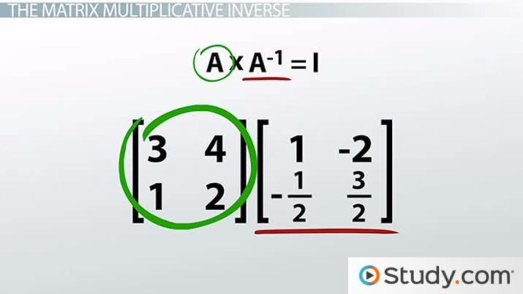 Multiplicative Inverses Of Matrices And Matrix Equations Video