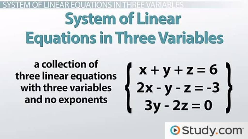 linear equation problem solving