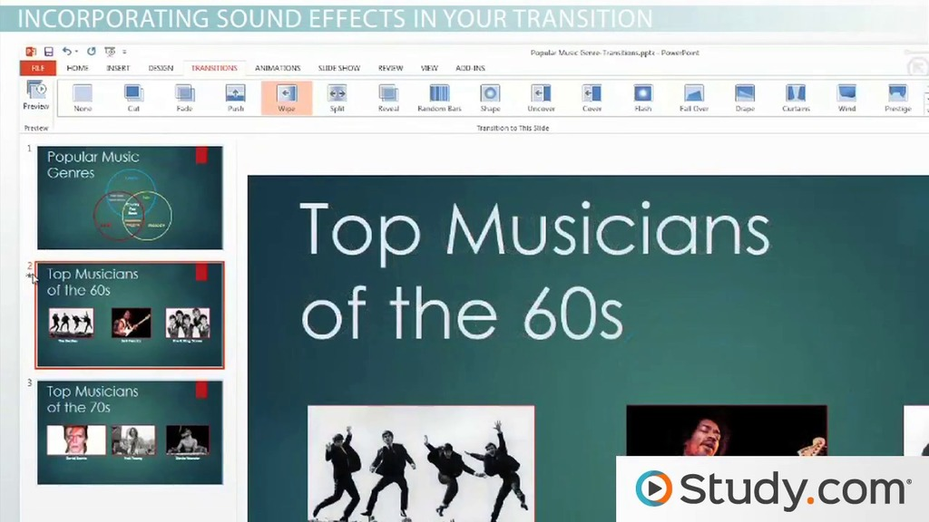 How to Add Transitions Between PowerPoint Slides - Video & Lesson  Transcript | Study.com