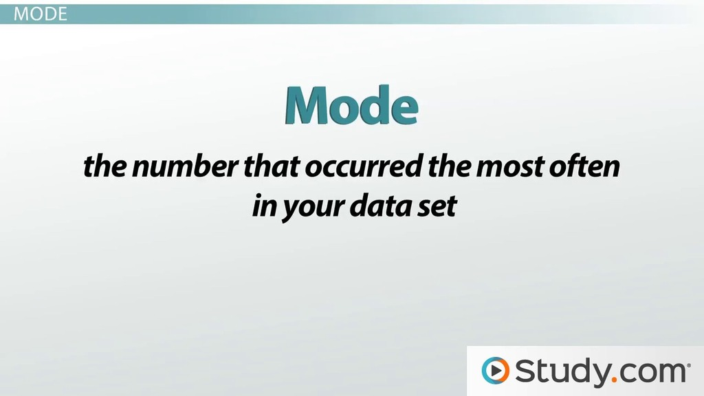 How To Calculate Mean Median Mode Range Video Lesson