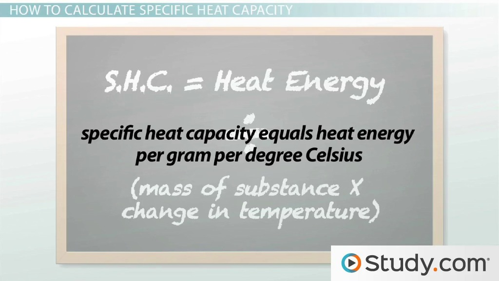 How To Calculate Specific Heat Capacity For Different Substances