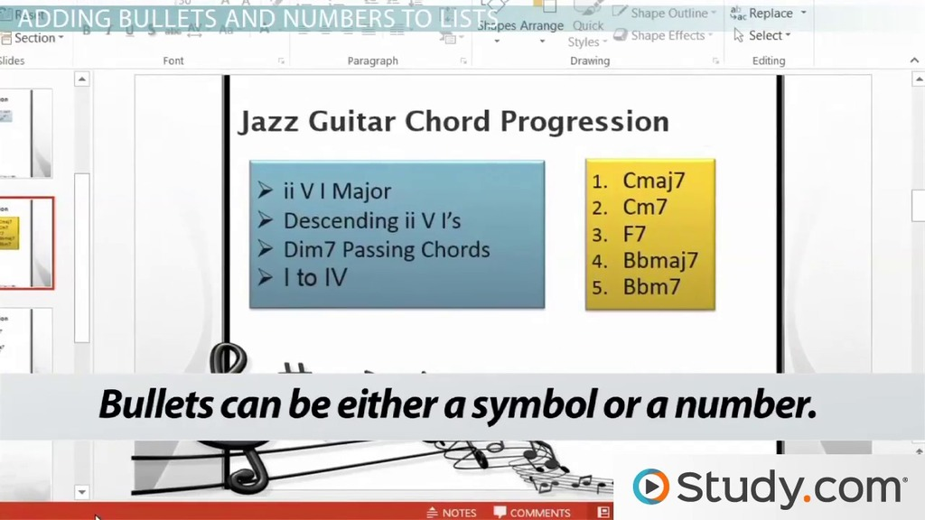how to format text in powerpoint bullets numbered lists and