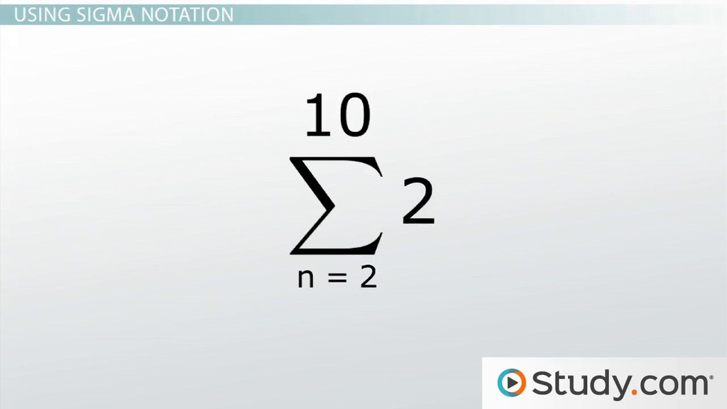 How To Use Series And Summation Notation Process And Examples