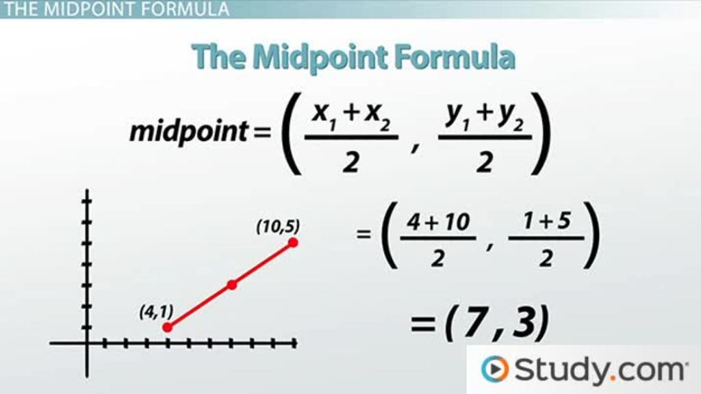 How to Use The Midpoint Formula - Video & Lesson Transcript