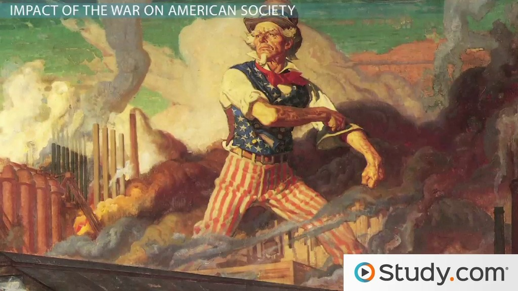 the first world war and the impacts on america The impact of the second world war (1940s) the second world war started in 1939 and america was selling goods to other countries in 1941 america joined the war and this brought the depression to an end.