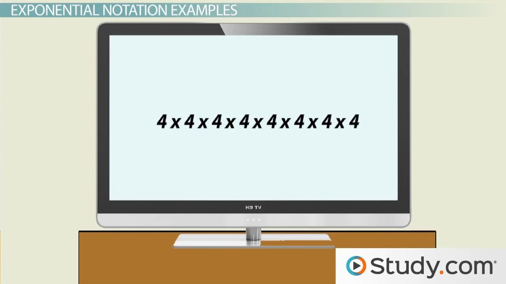 How to Use Exponential Notation - Video & Lesson Transcript ...