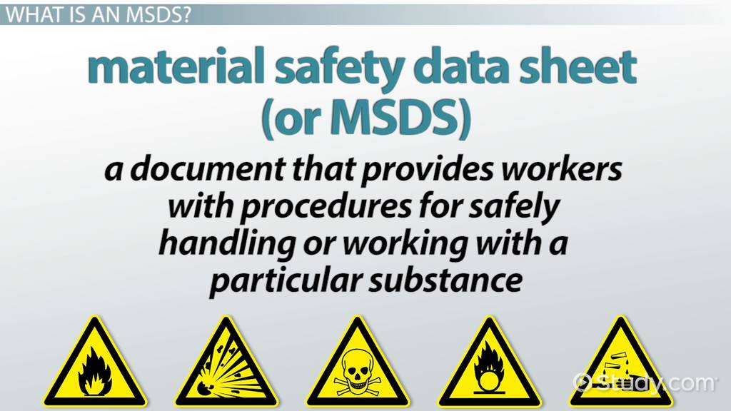 Material Safety Data Sheet Msds Definition Purpose Video