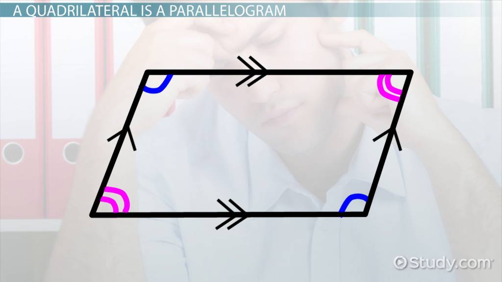 Proving That A Quadrilateral Is A Parallelogram Video Lesson