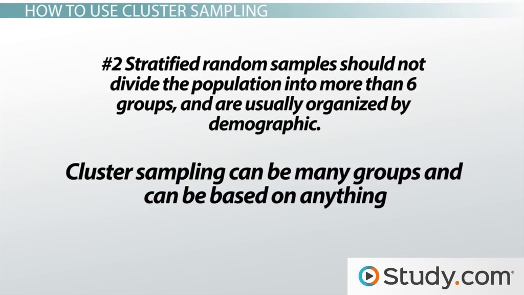 Cluster random samples definition selection examples video cluster random samples definition selection examples video lesson transcript study fandeluxe Gallery